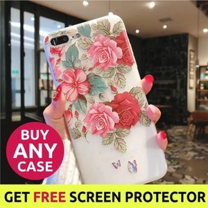 NEW iPhone Max/XR/XS/X/7/8/Plus Floral Case
